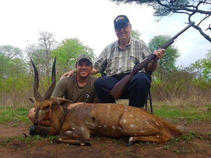 Bush Buck hunt in Mozambique