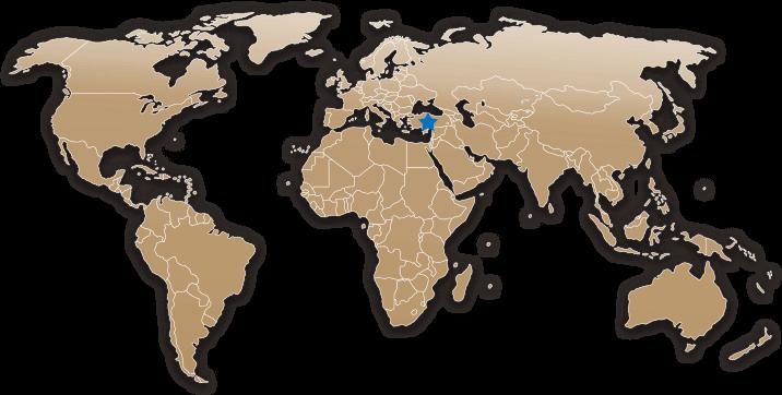 World Map of Turkey